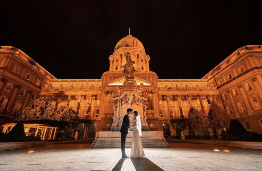 Bride & Groom at Buda Castle, Savoy