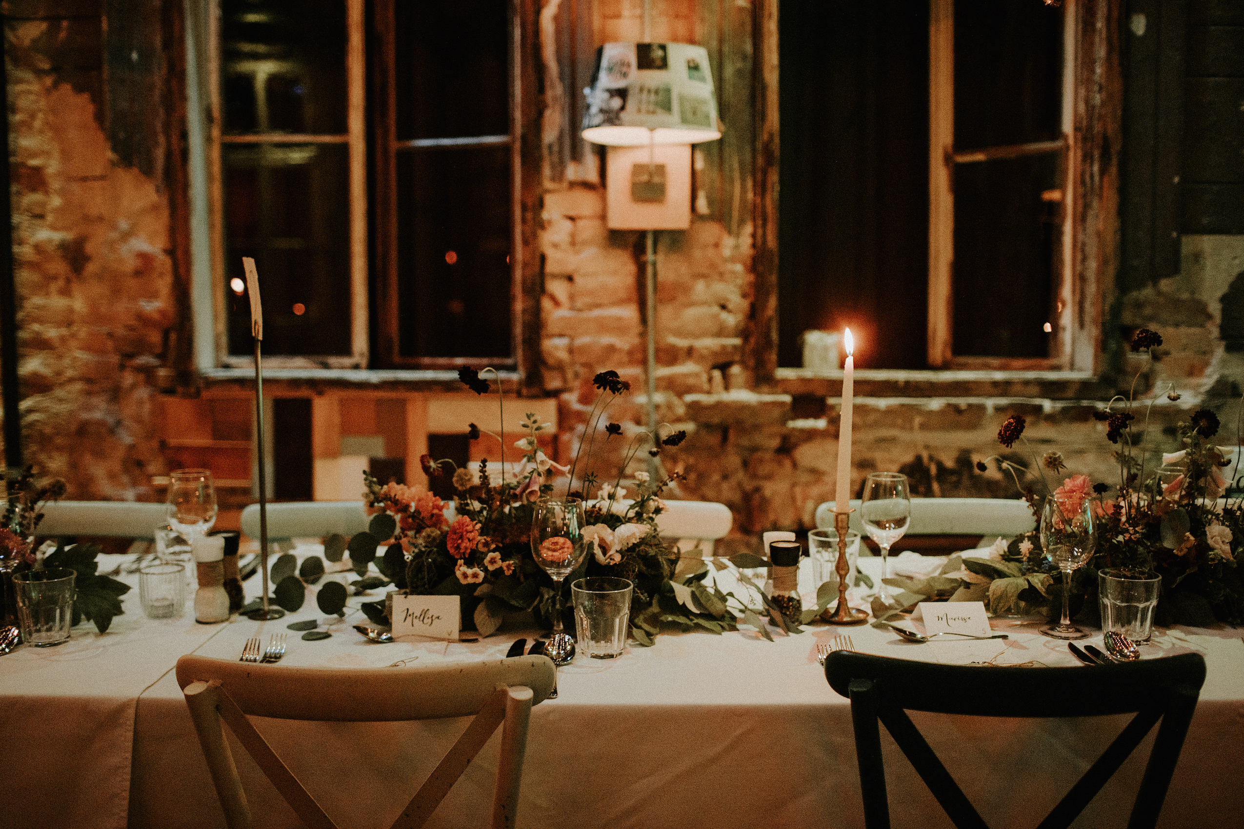 Rustic Wedding table decoration in Brody Studios Budapest
