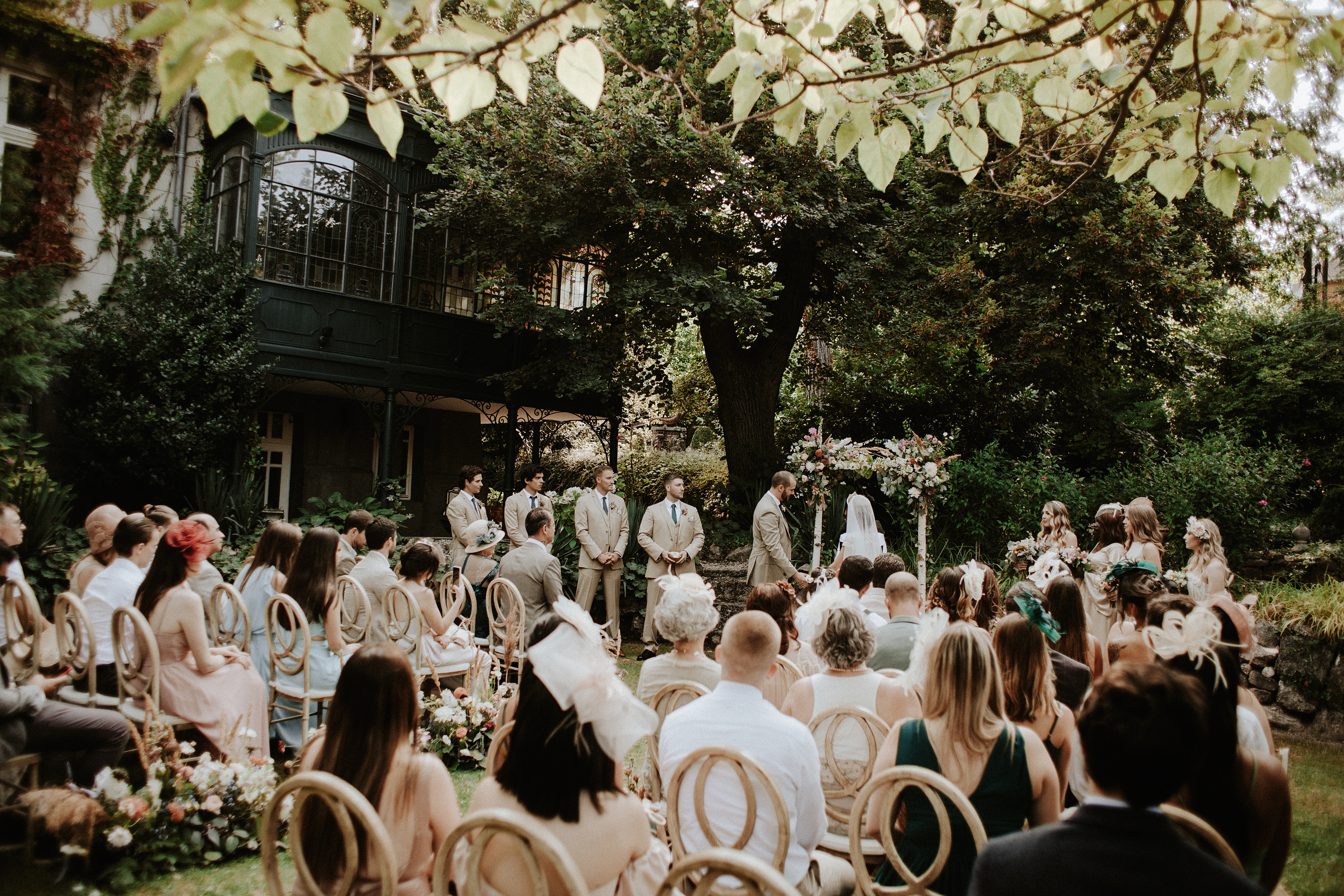 Outdoor Wedding Ceremony in Budapest