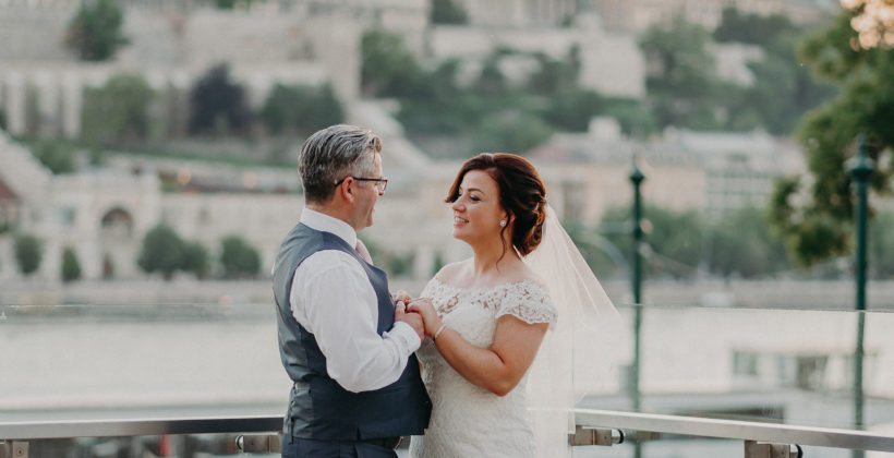 Wedding in Budapest with views of Buda Castle