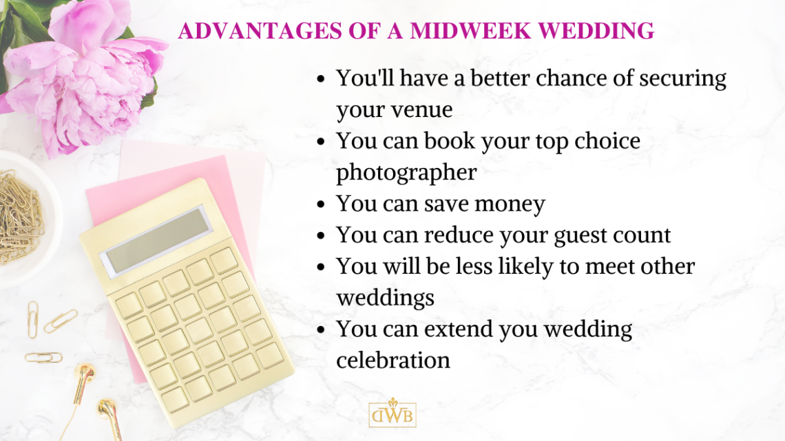 list of advantages of having a midweek wedding