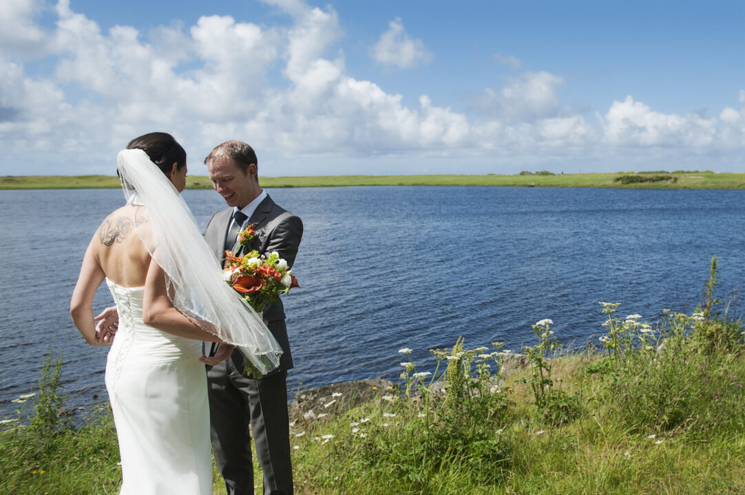 bride-groom-first-look-reaction-connemara-lakeside-ireland