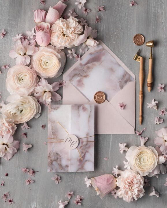 Wedding stationery flat lay by Margo and Bees