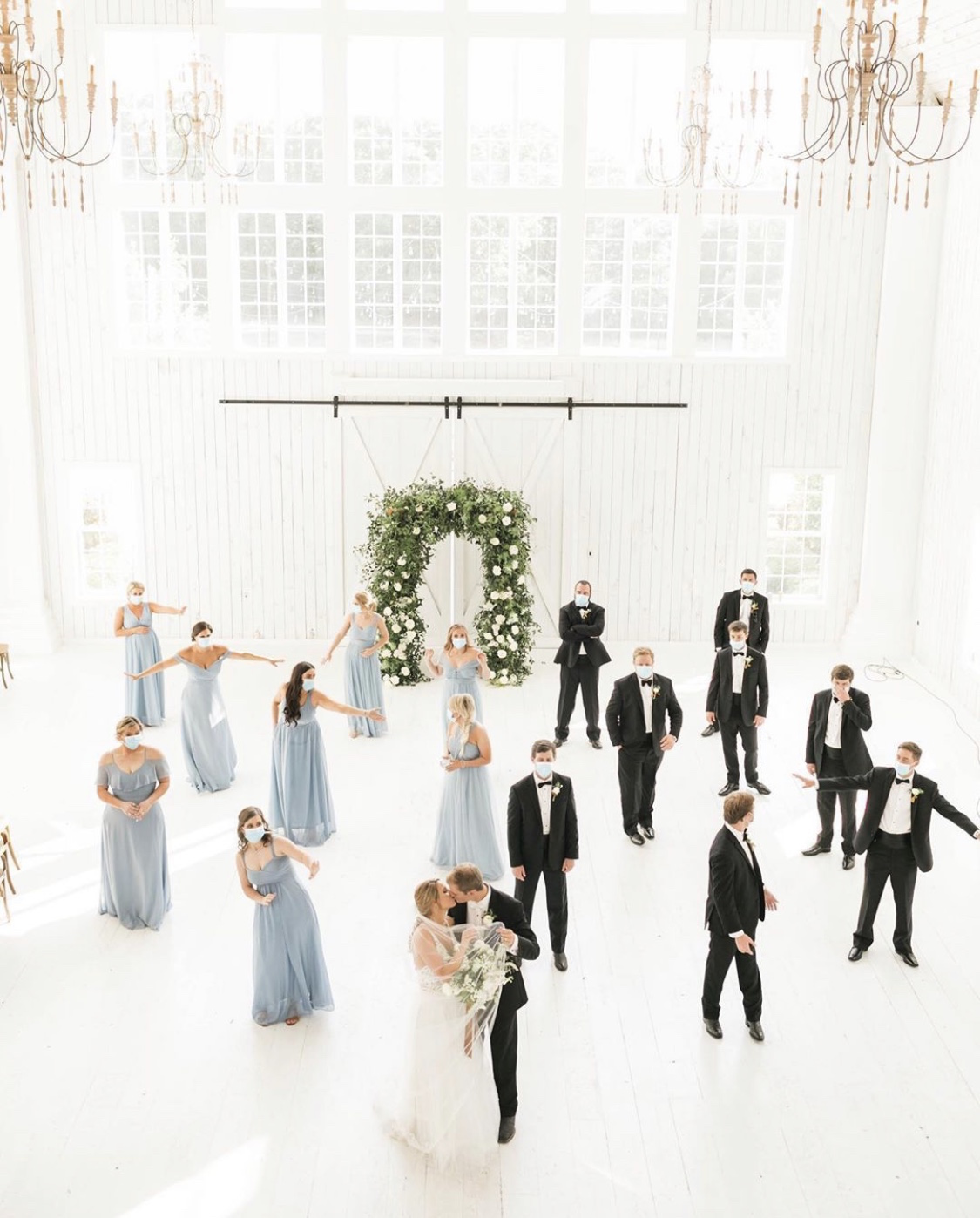 Socially distanced wedding during Covid-19