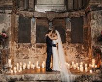 Candlelit wedding in rustic setting dream weddings Budapest blog